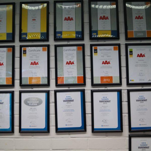 Taatusti turvallista ostamista.Paras yritysluokitus AAA vuodesta 2005!